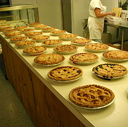 Fresh baked pies are a specialty at Weber's Cider Mill Farm in Parkville, MD, NE Baltimore.